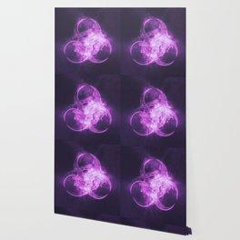 Biohazard sign. Biohazard symbol. Abstract night sky background Wallpaper
