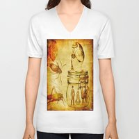 insects V-neck T-shirts featuring The revenge of insects by Ganech joe