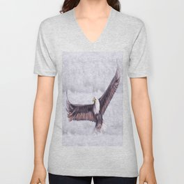 Eagle In The Clouds Unisex V-Neck