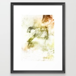 24 Framed Art Print