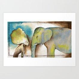 """""""La mujer y el elefante nunca olvidan"""" ~ """"Women and elephants never forget"""" Art Print"""