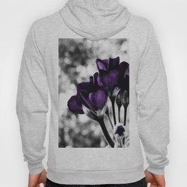 Purple Flowers Pop Of Color Hoody