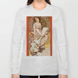 """Alphonse Mucha """"Champenois Calendar"""" Long Sleeve T-shirt"""
