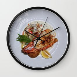 Lobster Dinner Wall Clock