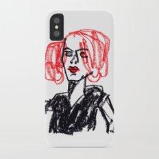 red hair girl iPhone X Slim Case