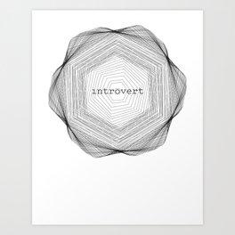 Introvert Spirograph #3 Art Print
