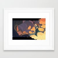 mother of dragons Framed Art Prints featuring Mother of dragons by Ann Marcellino