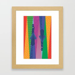 Inseparable Fishes Framed Art Print