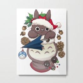 Totoroshka shirt christmas Studio Gibli Metal Print