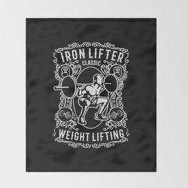 iron lifter classic Throw Blanket