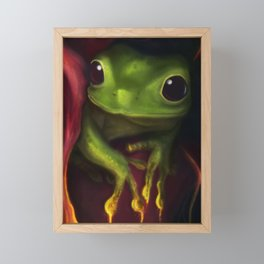 Playing with fire Framed Mini Art Print