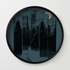 A Fox in the Wild Night... Wall Clock