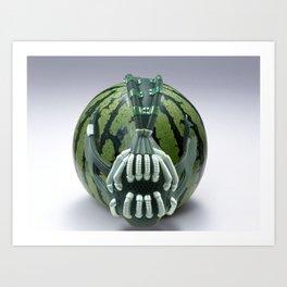 Bane Mask on Watermelon Art Print