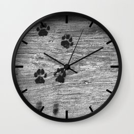 The cat was here Wall Clock
