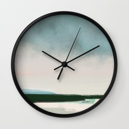 Cloudy evening Wall Clock
