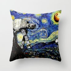 Starry Night versus the Empire Throw Pillow