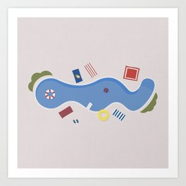 The Swimming Pool Season Art Print