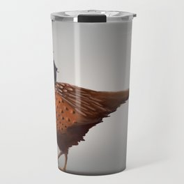 Winter Gnome on Pheasant Travel Mug
