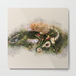 Lazy Dragon watercolor print Metal Print