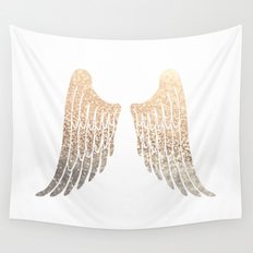GOLD WINGS Wall Tapestry