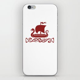 Dragon Boat - Red iPhone Skin
