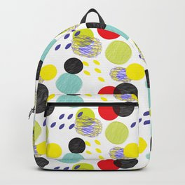 Dots party colorful bubble pattern design combined textures wrap Backpack