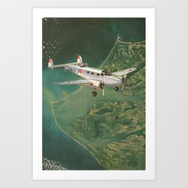 Fighter Aerial  Art Print