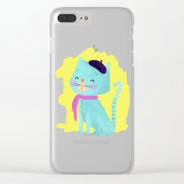 Pierre Cat Clear iPhone Case