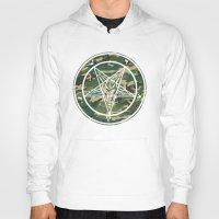 pentagram Hoodies featuring Pentagram Camo by Parin Cashmony