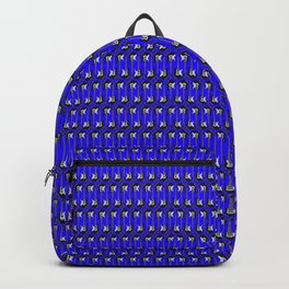 Guitars (Tiny Repeating Pattern on Blue) Backpack