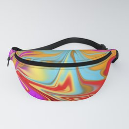 mixed colours pointy pattern Fanny Pack