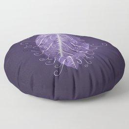 Violet Swirly Leaf Floor Pillow