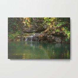 Green Water Metal Print