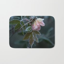 Frost Covered Rose  Bath Mat
