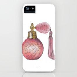 Pink Perfume Bottle iPhone Case