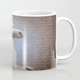 Balance Stone, Affirmations in the back Coffee Mug