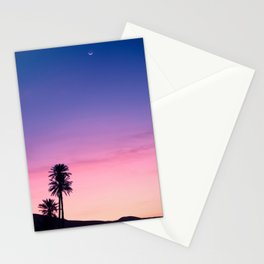 Sunrise Moon and Star over the Moroccan Desert Stationery Cards