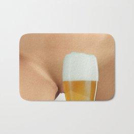 Beer and Naked Woman Bath Mat