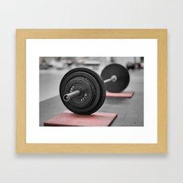 Cast Iron Barbell Framed Art Print