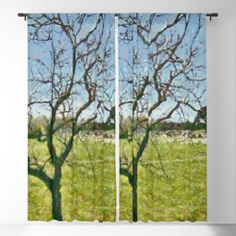 Paestum: tree and archaeological park Blackout Curtain