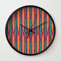 knitting Wall Clocks featuring Knitting Flames by VessDSign