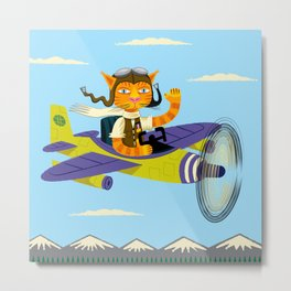 Tibbles Learns To Fly Metal Print