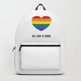 ALL LOVE IS EQUAL - rainbow heart Backpack