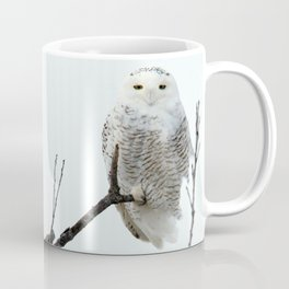 Snowy in the Wind (Snowy Owl) Coffee Mug