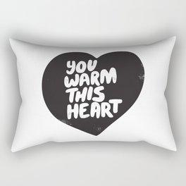 You warm this heart Rectangular Pillow