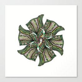 woman with sari mandala Canvas Print