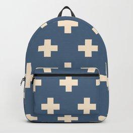 Swiss Cross Blue Backpack