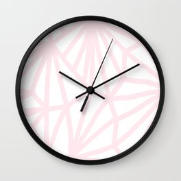 Handmade minimal geometric pattern - pastel pink #decor Wall Clock
