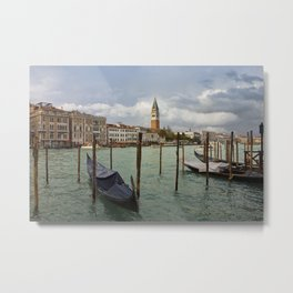 Grand Canal In Venice After Storm Metal Print