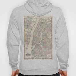 Vintage Map of NYC and Brooklyn (1865) Hoody